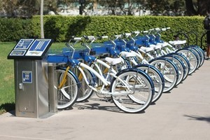 Blue and white bike share hub picture 66b8ee85 4bc4 481d acc4 f219e0f59057