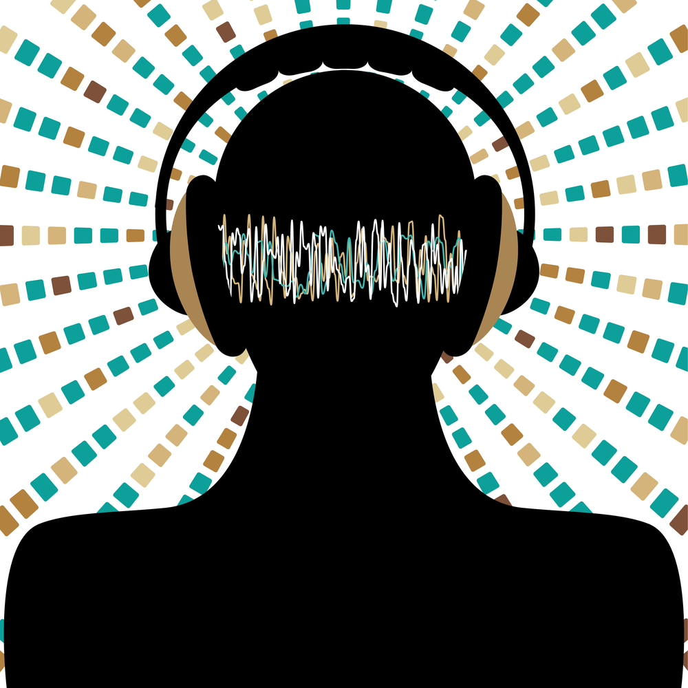 Headphones noise illustration