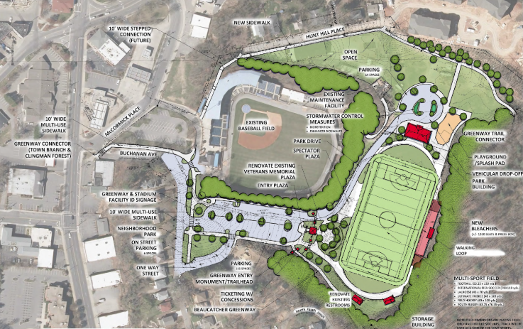 Memorial Stadium rendering