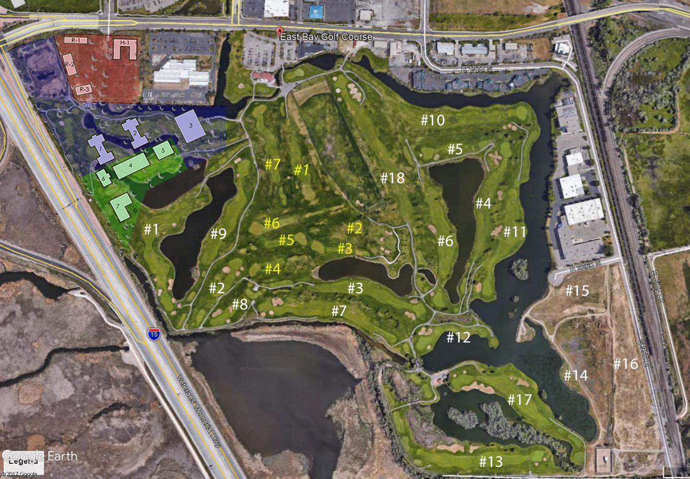 Open City Hall - East Bay Golf Course / Medical Proposal ... Bay Area Golf Courses Map on