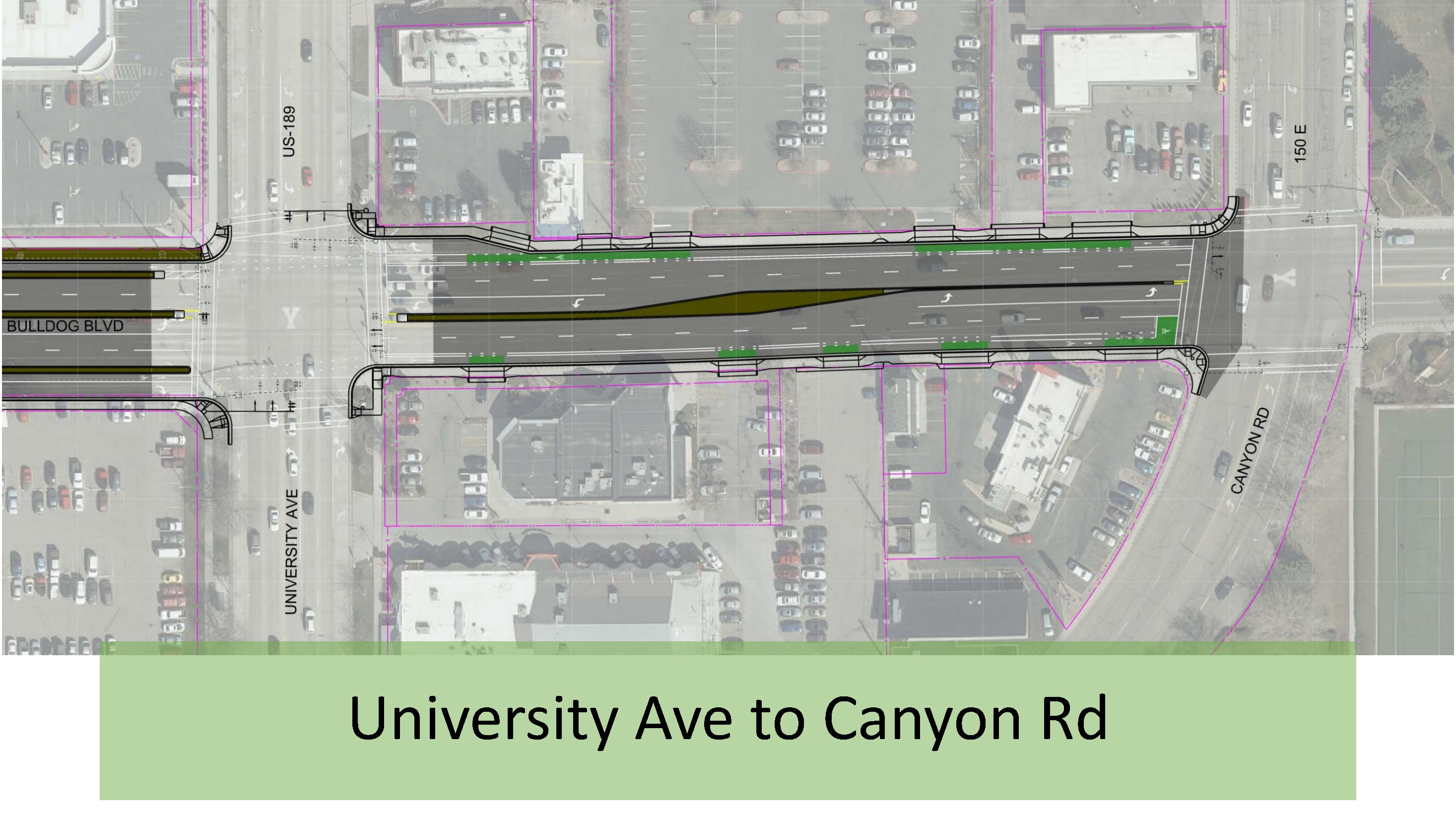 University Ave to Canyon Rd
