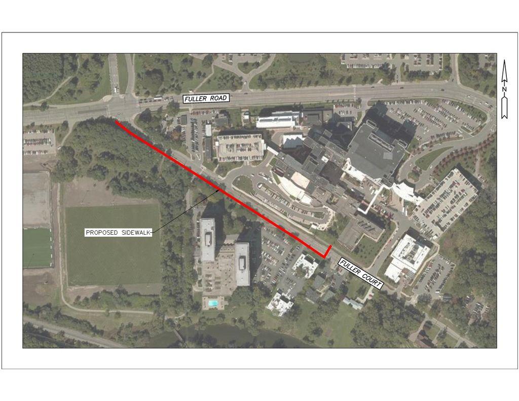 Fuller Court Sidewalk Map