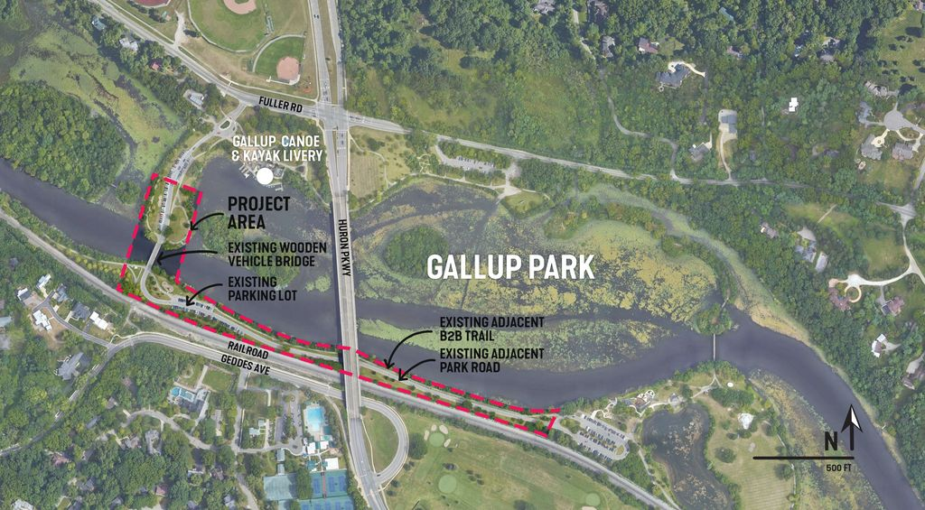 Gallup Park Map