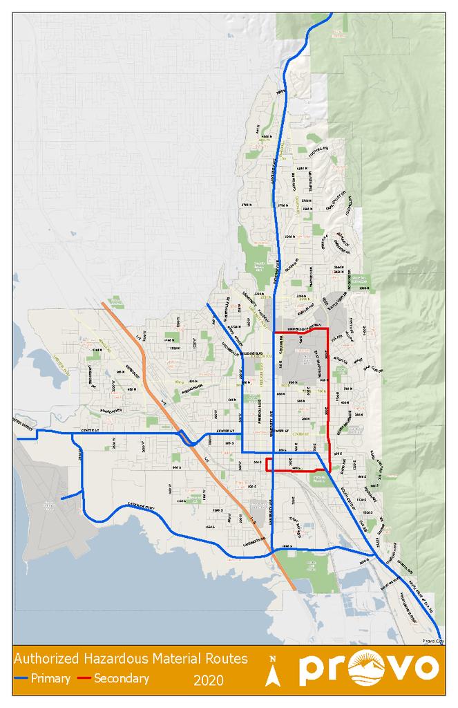 map of hazardous materials routes