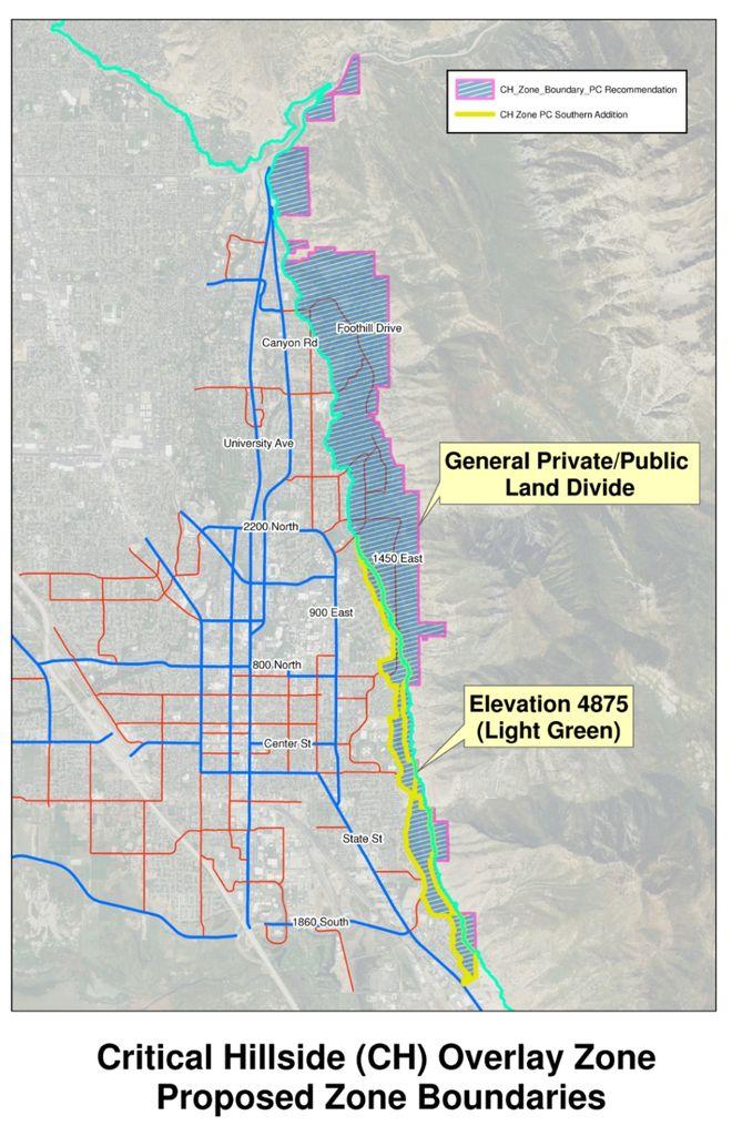 critical hillside overlay zone map