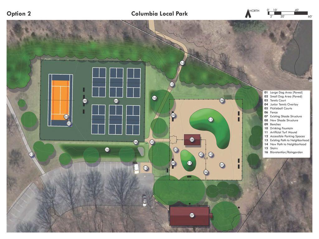 Option 2 Columbia Local Park Impovement Plan