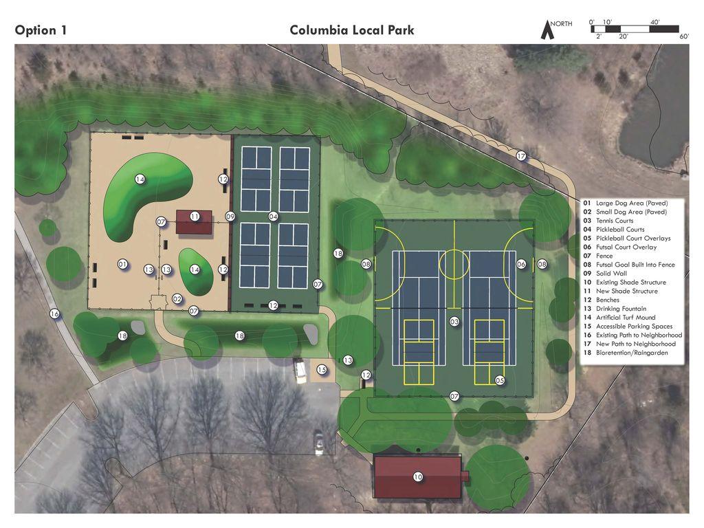 Option 1 For Columbia Local Park Improvement Plan