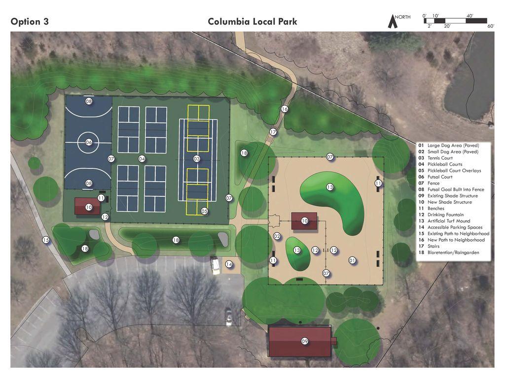 Option 3 Columbia Local Park Improvement Plan