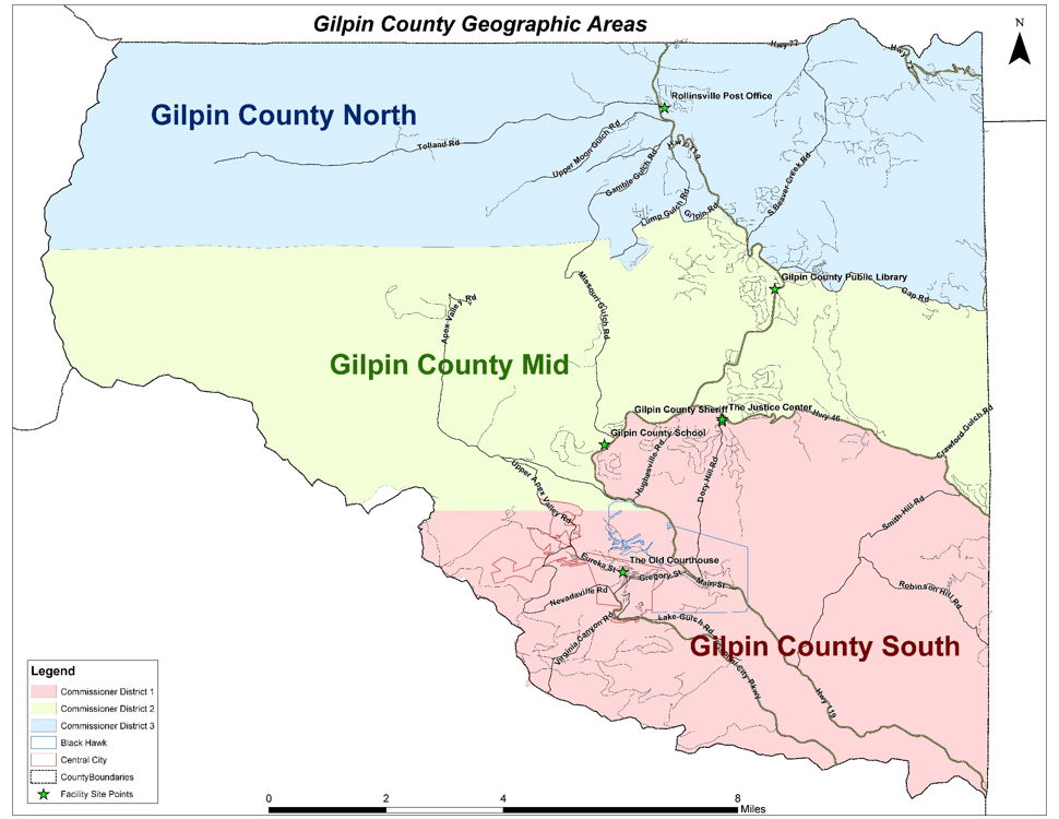 Gilpin Geographical Areas